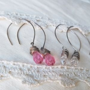 Boutique Jewelry - 🌹 Crystal Drop Earrings - Pink or Clear